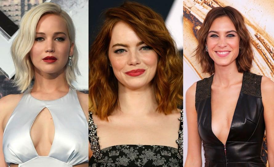 Tämän hetken trenditukka on tuttu muun muassa Jennifer Lawrencen, Emma Stonen ja Alexa Chungin päästä. Kuvat: Reuters
