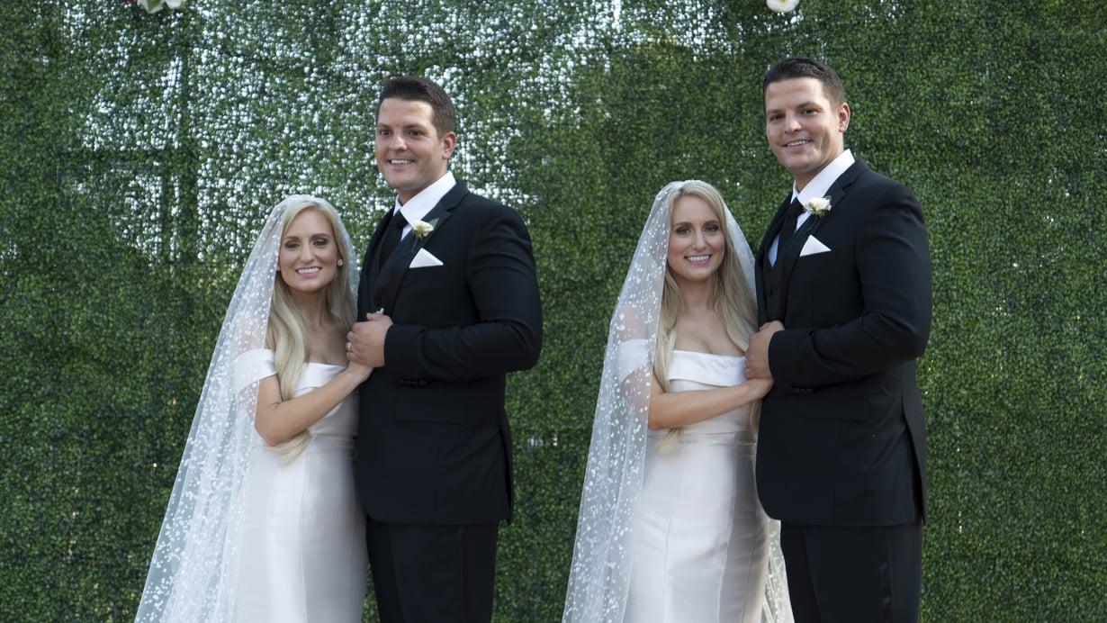 Identtiset kaksoset Brittany ja Briana jakavat kaiken – myös häät. Kuva: Frii