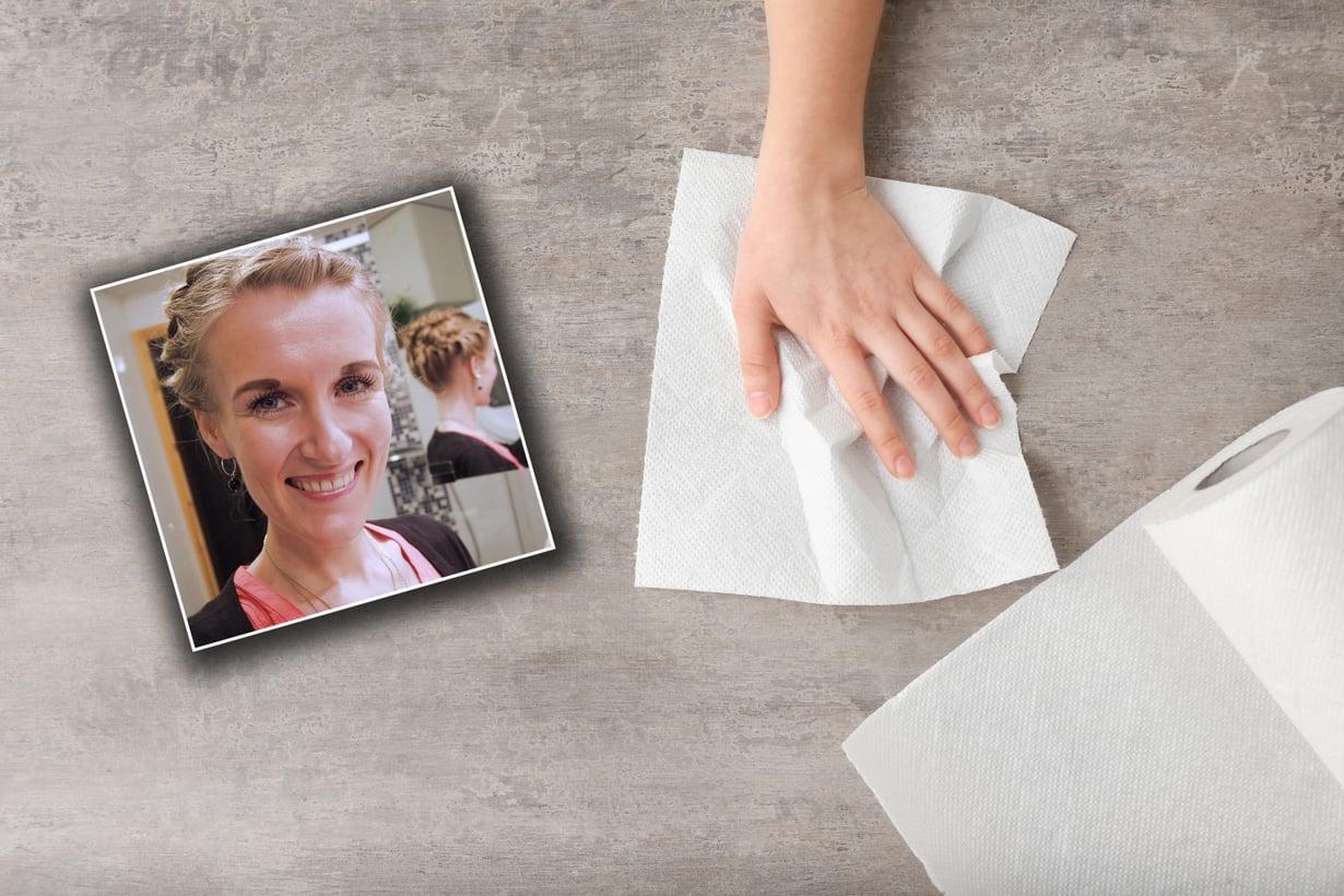 Satu-Maria Ravelin kutsuu itseään himosiivoojaksi. Kuvat: Satu-Marian kotialbumi ja Shutterstock