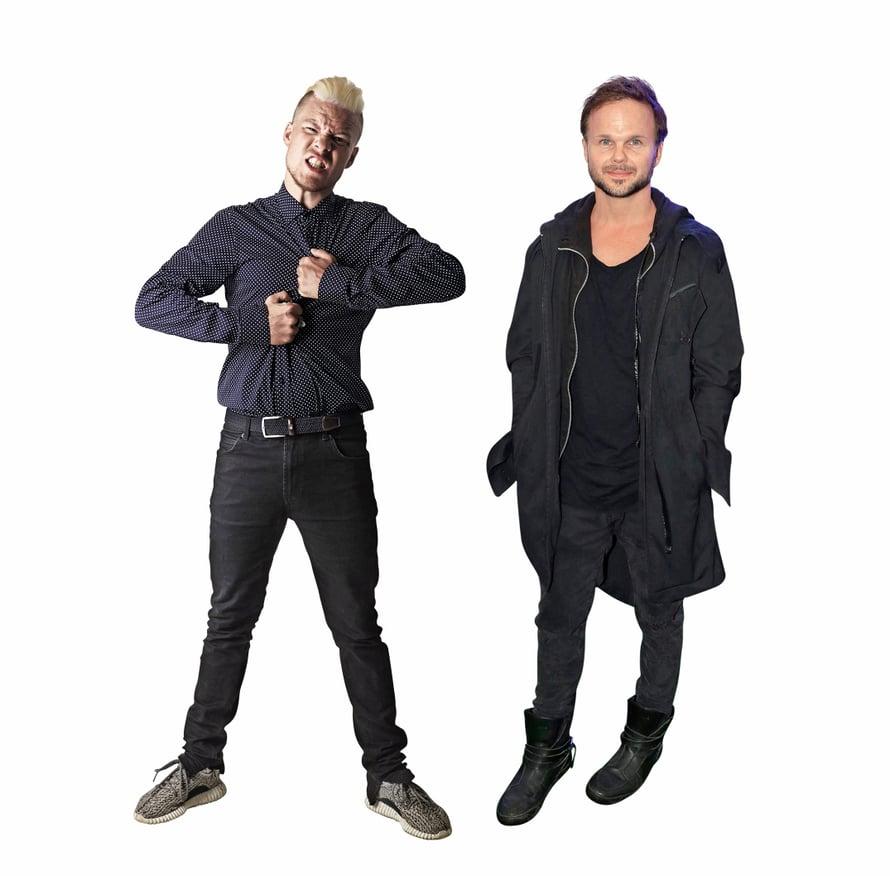 Räppäri Ville Galle on samanpituinen kuin esimerkiksi Armi Toivanen ja Irina Björklund. Lauri Ylösen kanssa samanpituisia ovat taas esimeriksi Paula Koivuniemi ja Vappu Pimiä.