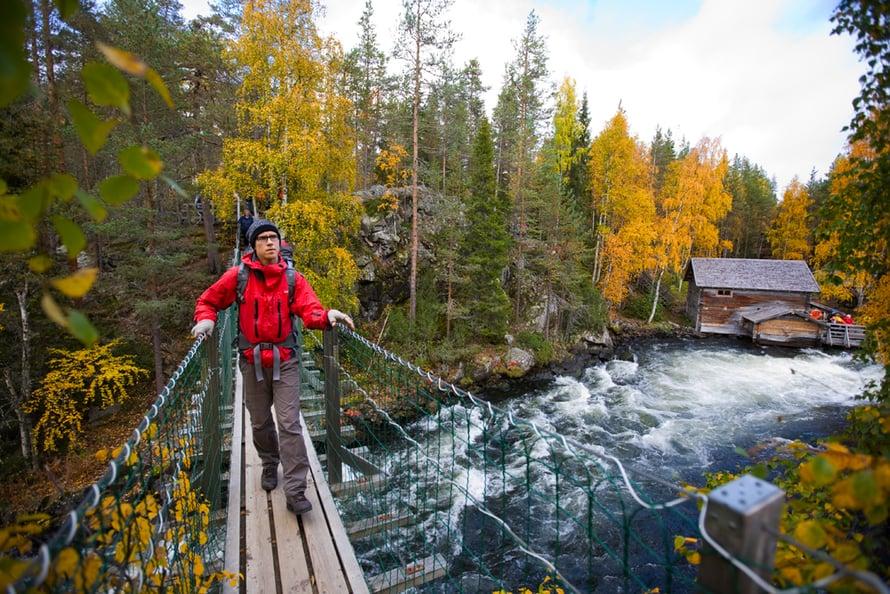Karhunkierros on Suomen suosituin vaellusreitti.