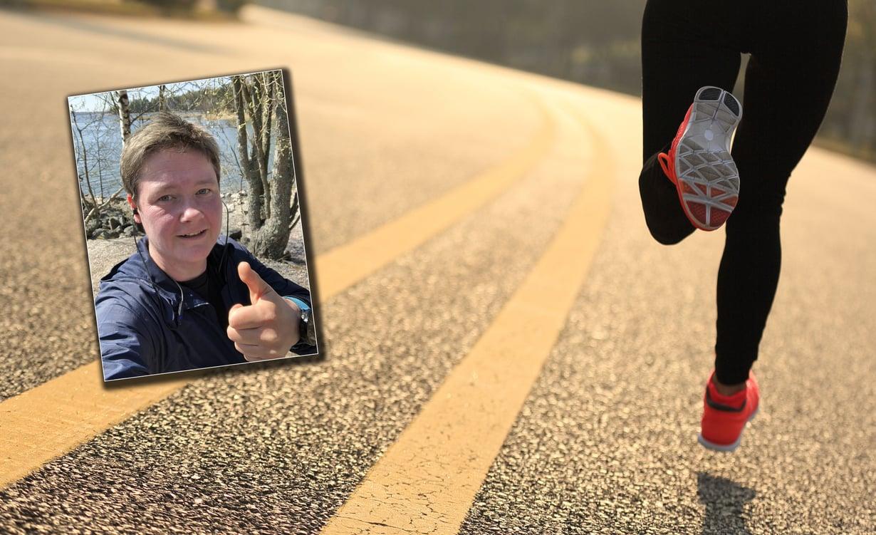 Niina Roth aloitti juoksutreenit, koska haluaa vetää Naisten kympin juoksemalla. Kuvat: Shutterstock ja Niinan kotialbumi