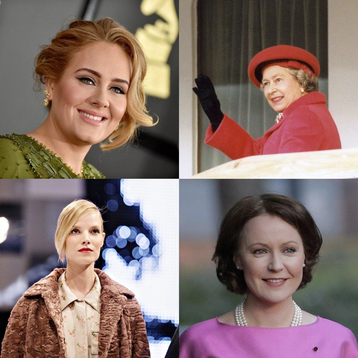 Oletko samaa porukkaa Adelen, Elisabet II:n, Suvi Riggsin tai Jenni Haukion kanssa?