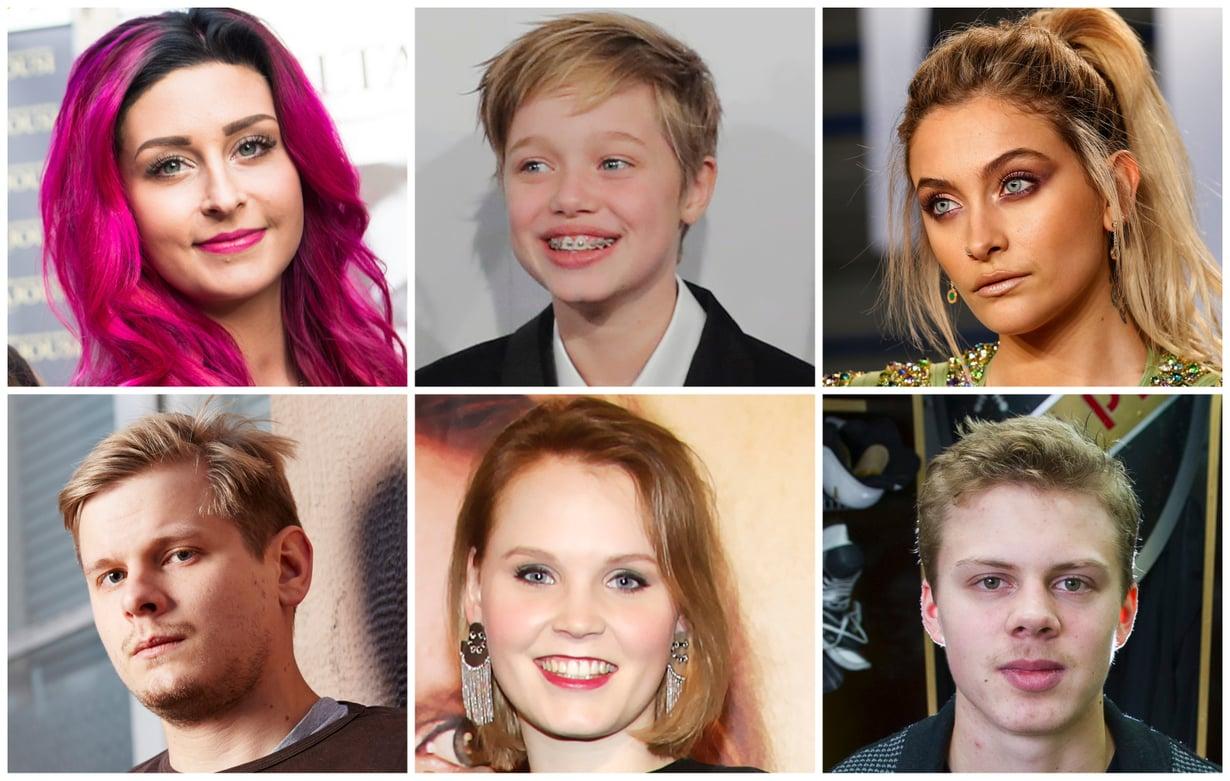 Ainakin yksi asia yhdistää Sofiaa, Shiloha, Parisia, Paavoa, Ellaa ja Kasperia: heillä kaikilla on nimekkäät vanhemmat. Jutun kuvat: Sanoma-arkisto ja Reuters