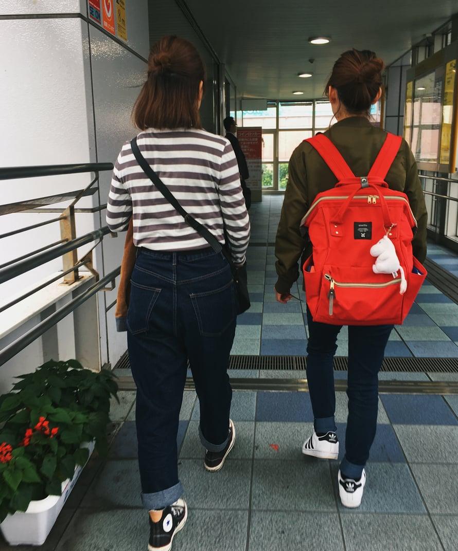 Muumit! Ne heiluvat Okinawallakin joka paikassa, varsinkin koululaisten repuissa.