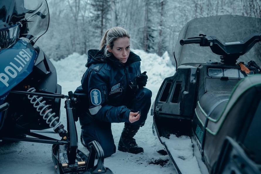 Ivalo-sarjan pääosaa esittää Iina Kuustonen. Kuva: Elisa Viihde Aitio