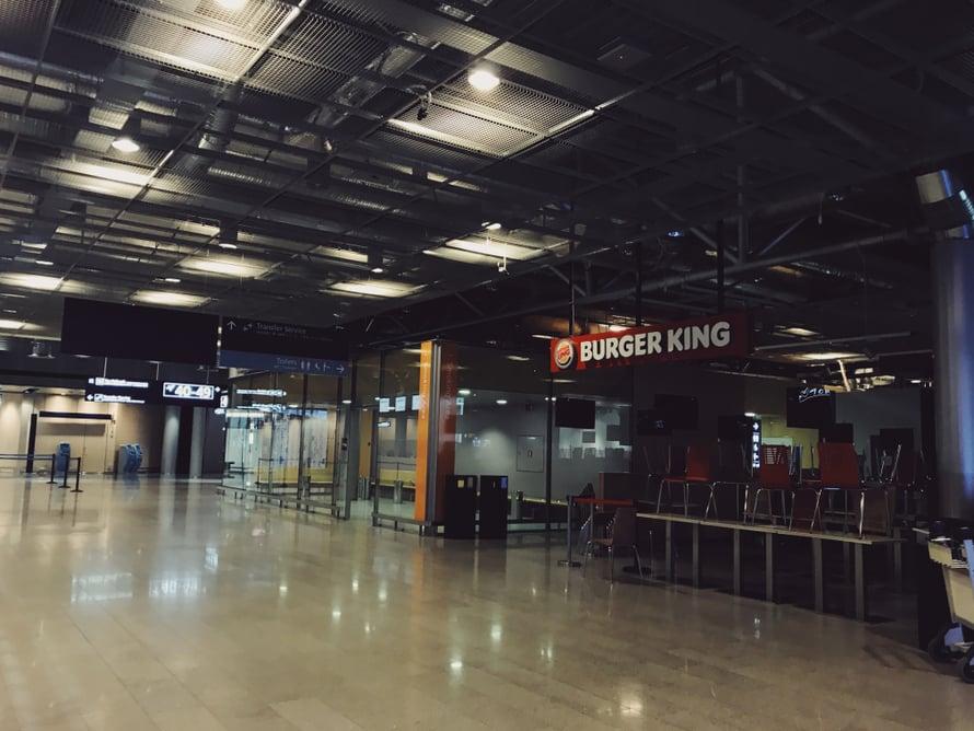 Burger Kingin valot Helsinki-Vantaalla on sammutettu.