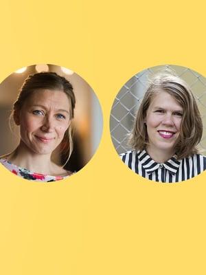 Jamilla Heiskanen, Merja Mähkä, Julia Thurén ja Unna Lehtipuu.