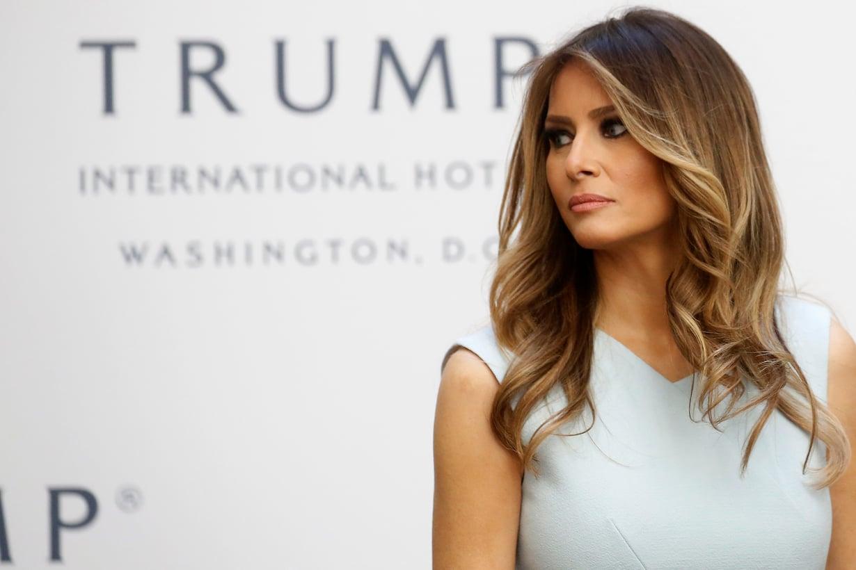 Melania Trump luottaa klassiseen hiustyyliin. Kuva: Reuters