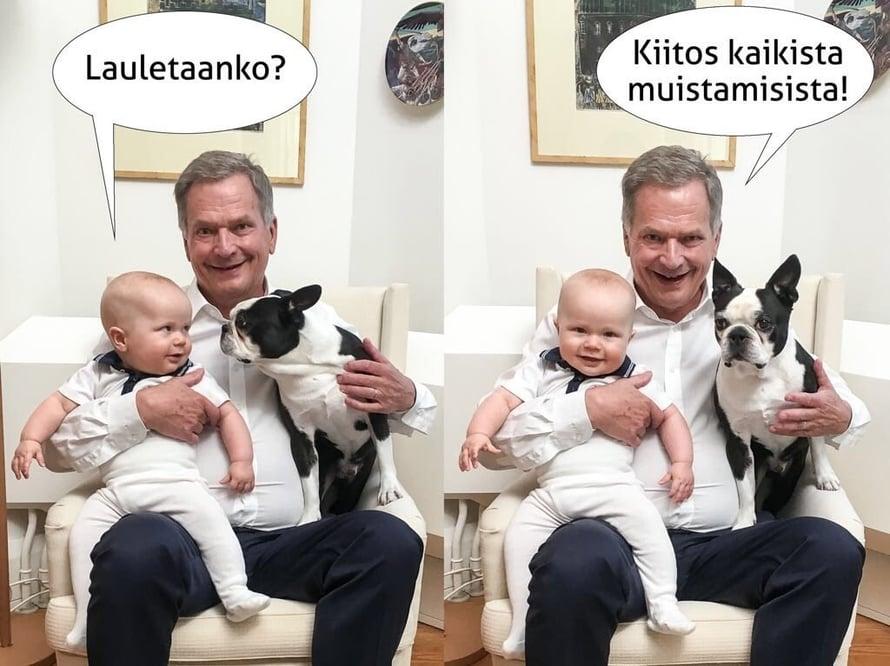 Kuva: Sauli Niinistön Twitter-tili
