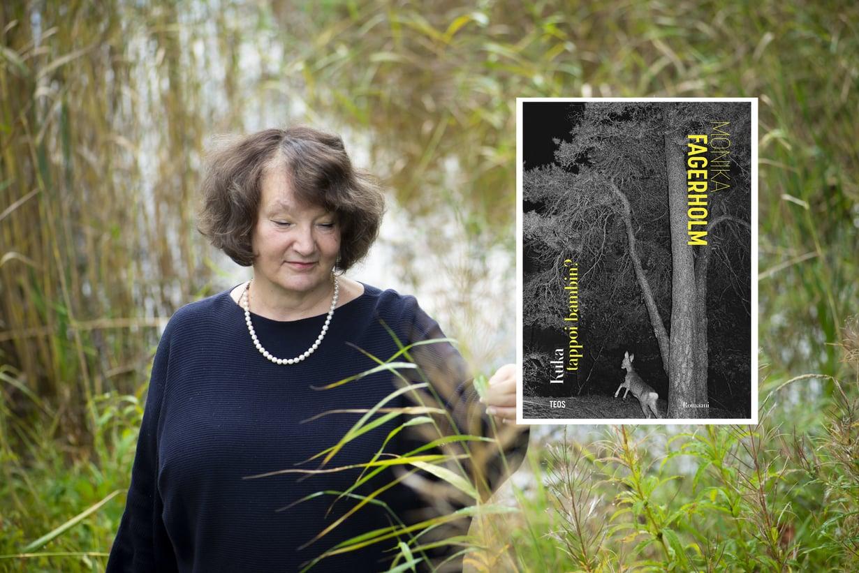 Monika Fagerholm on tänä vuonna Finlandia-ehdokkaana romaanillaan Kuka tappoi bambin. Kuvat: Sanoma-arkisto / Milla von Konow ja Teos