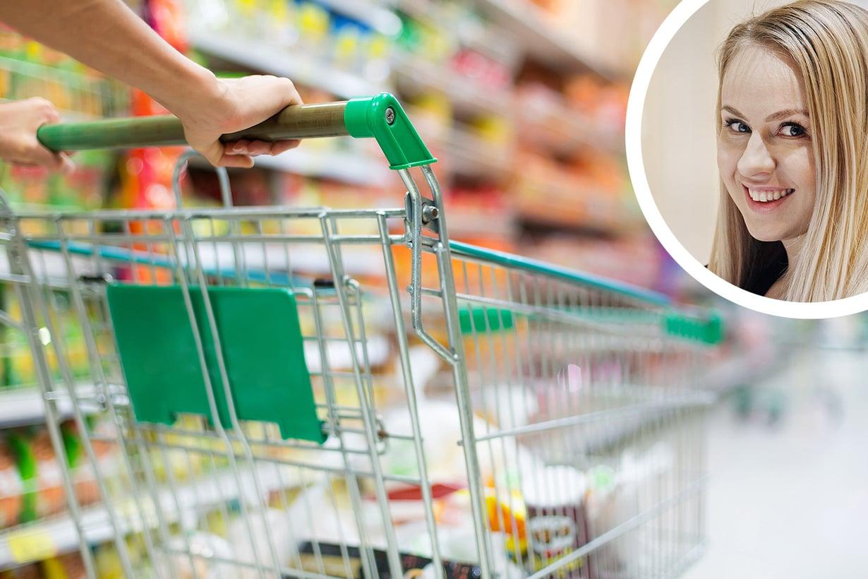 Virve ei halua ottaa ruokaostoksista stressiä. Kuvat: Shutterstock ja Sanoma-arkisto / Magnus Laupa