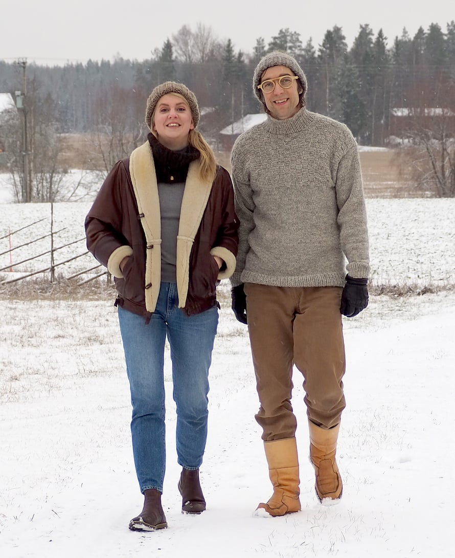 Anna ja Janne Rauhansuu kertovat lähtevänsä joulunviettoon pohjoiseen.