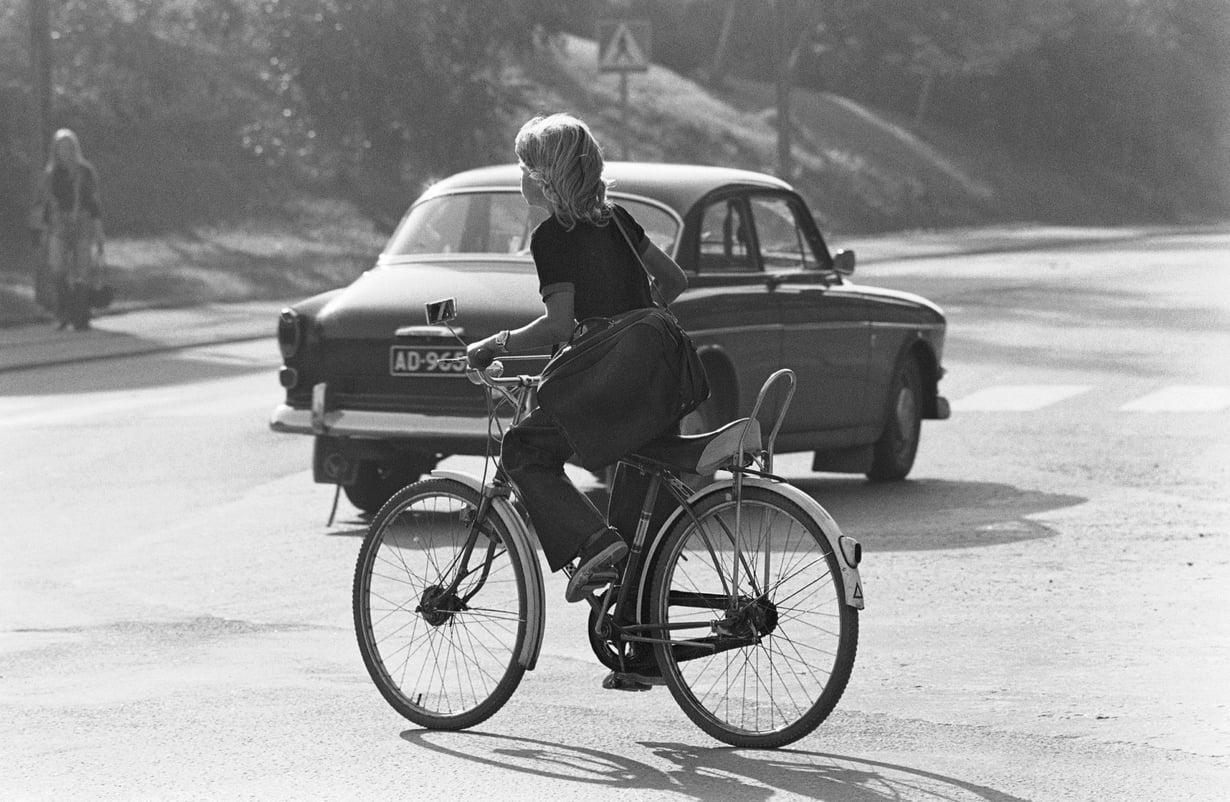 Ei ollut kypärästä tietoakaan 70-luvulla. Kuva: Lehtikuva / HS/ Caj Bremer