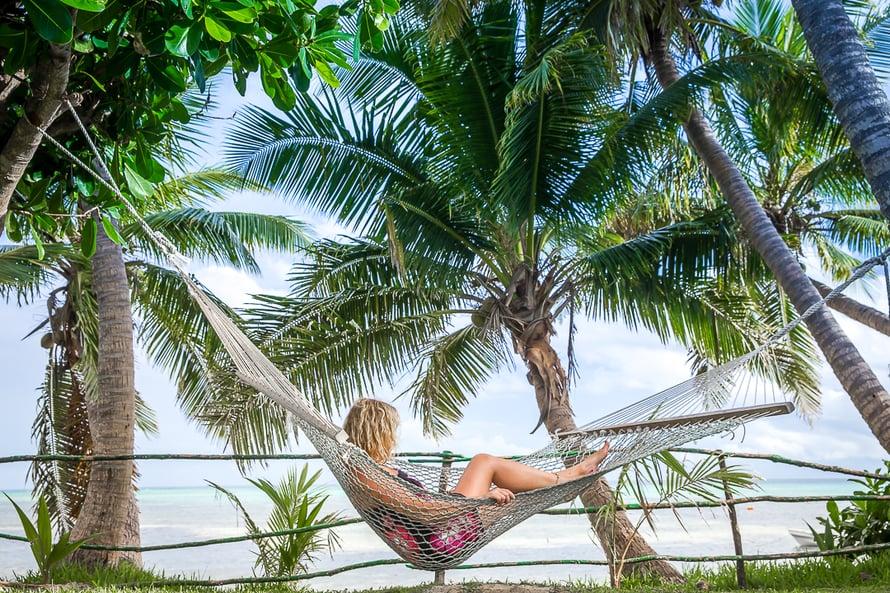 """""""Fidžillä yhdistyy se kaikki, mitä kaukaisilta paratiisisaarilta saattaa toivoakaan"""", kertoo Anna-Katri."""