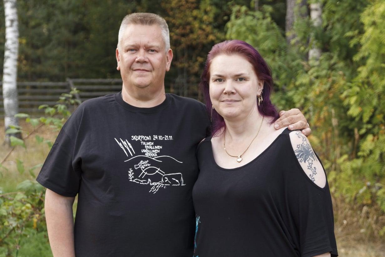 Aki ja Heli Palsanmäki ovat olleet yhdessä nyt 12 vuotta. Kuva: Sanoma-arkisto