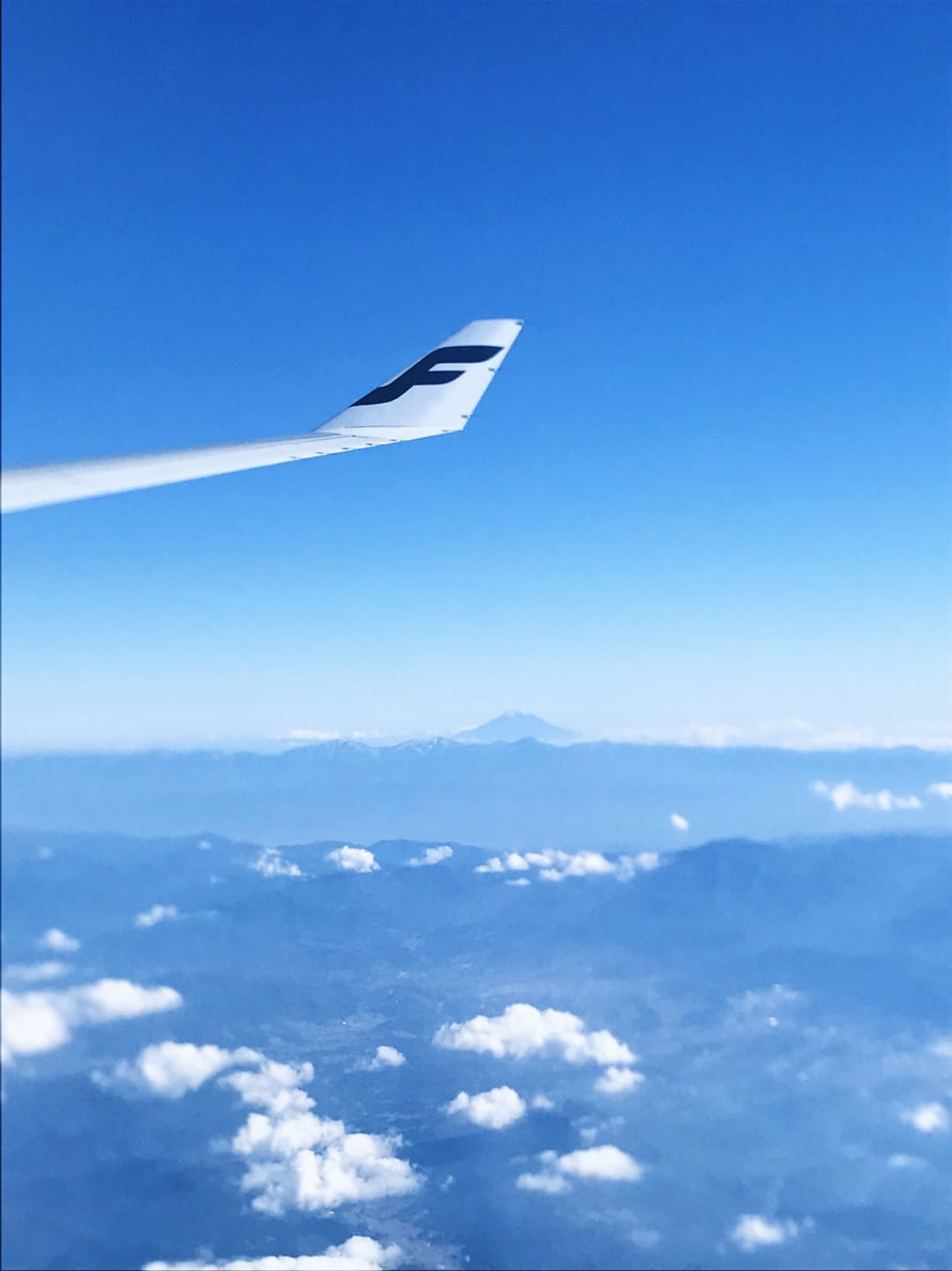 Jutun pääkuva on Dominikaanisesta tasavallasta. Tämä kuva on puolestaan Japanin-lennolta Fuji-vuoren yltä marraskuussa 2018.