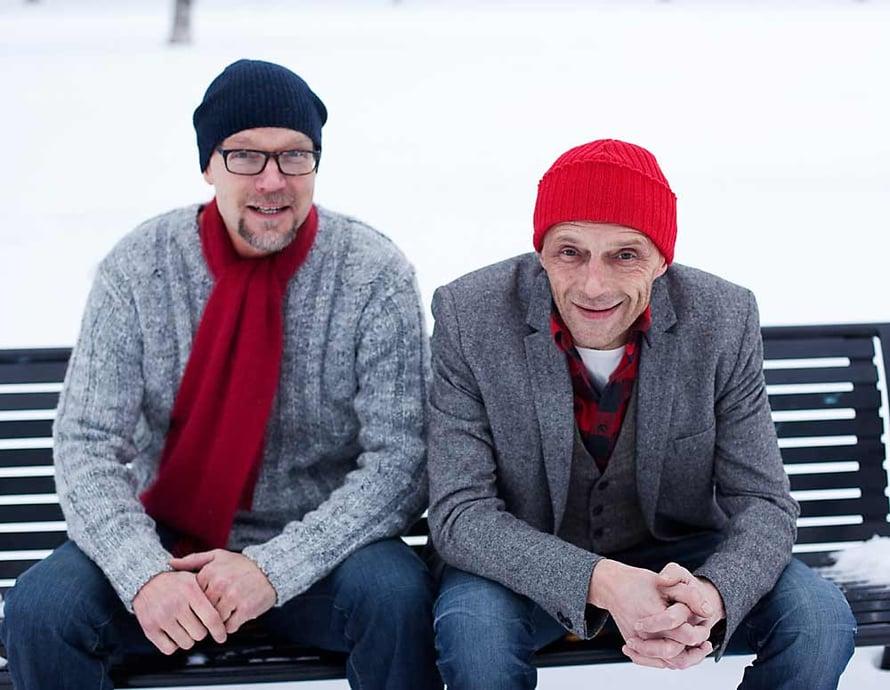 Kari ja Ilkka Heiskanen vuonna 2012. Kuva: Panu Pälviä