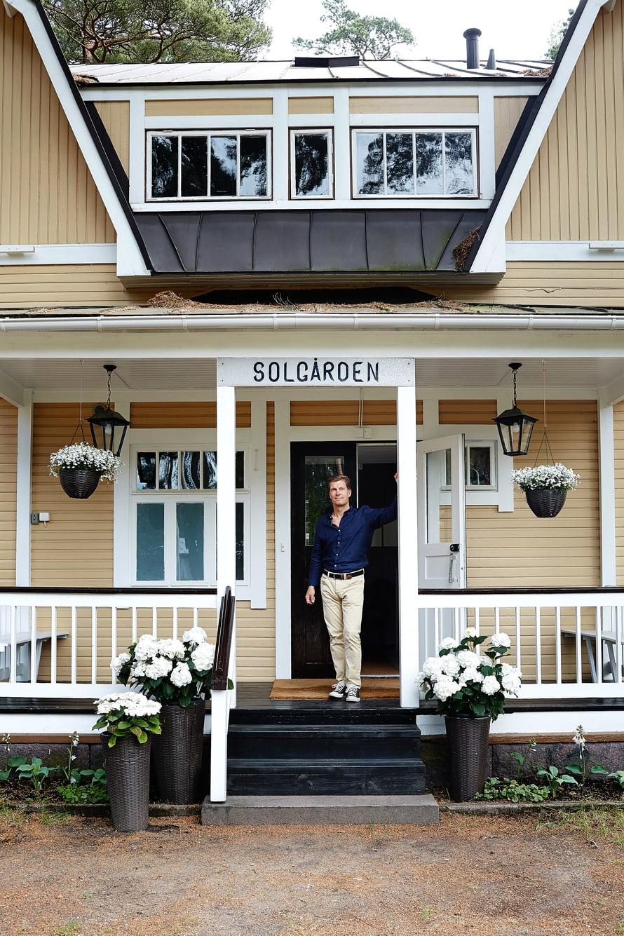 Staffan Tallqvistin kunnostuttama Villa Solgården on auki pensionaattina kesäkuukaudet.