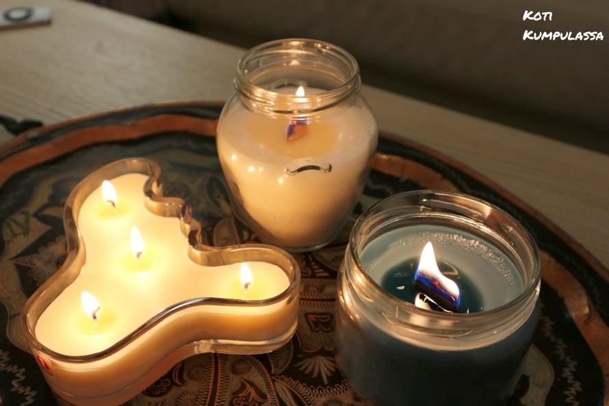 Itsetehty kynttilä on myös oiva lahjaidea!