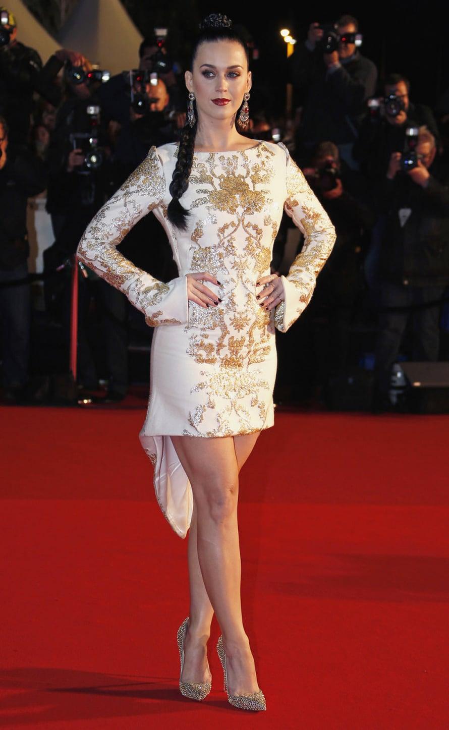 Katy Perry taitaa olla melkoinen jekuttelija, kuva REUTERS/Eric Gaillard.
