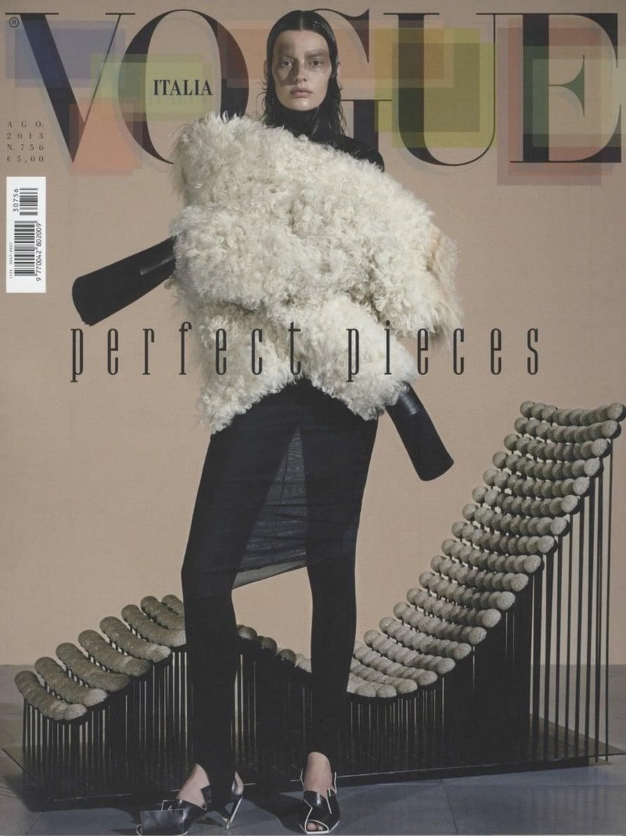Suomalainen asuste pääsi Italian Voguen kansijuttuun.
