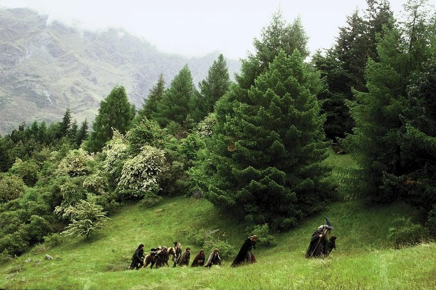 Taru Sormusten Herrasta -trilogia sijoittuu Uuden-Seelannin vehreisiin maisemiin.