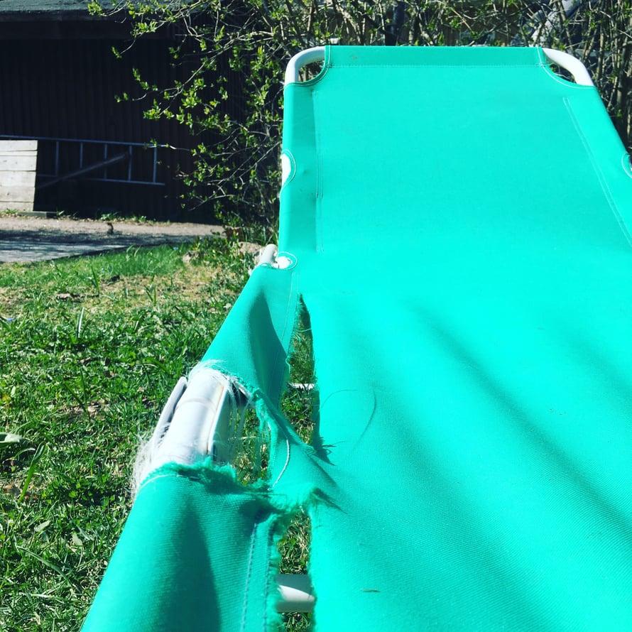 Tuunattu tuoli on nyt ihanan ilmava.